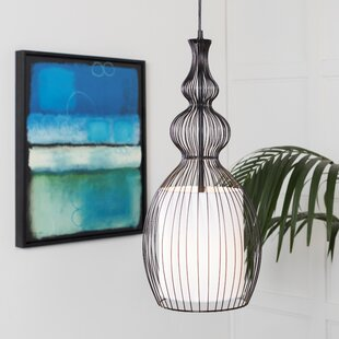 Richey Transitional 1-Light Jar Pendant by Bay Isle Home