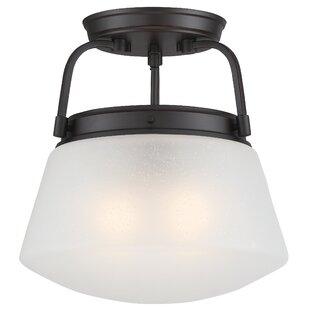 Schrock 2-Light Semi-Flush Mount by Breakwater Bay