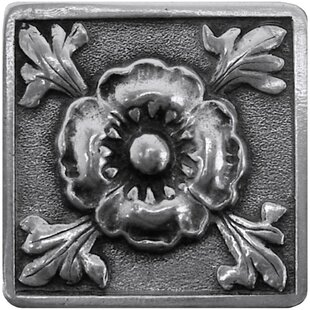 Poppy English Garden Flower Square Knob