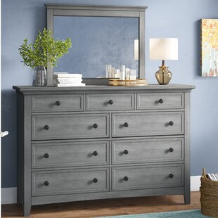 Woodside 9 Drawer Dresser with Mirror