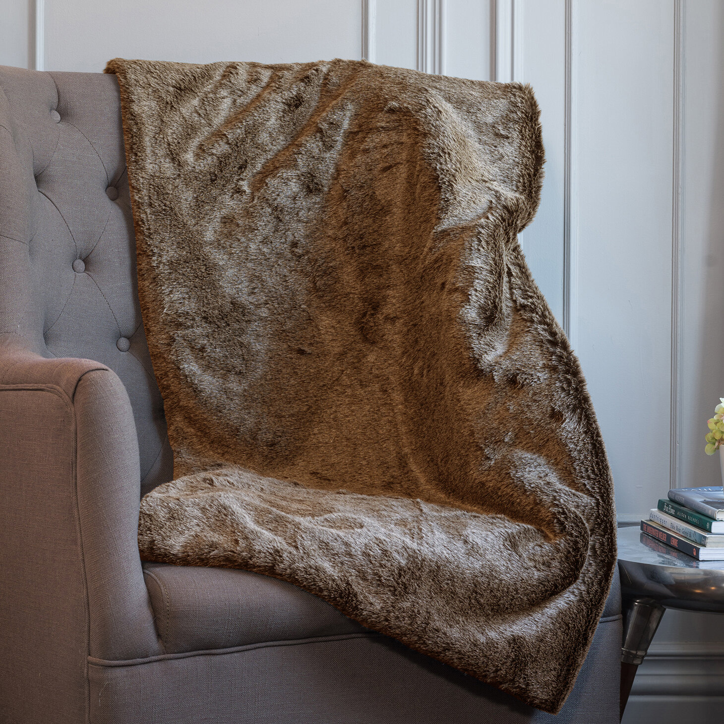 Union Rustic Meda Ultra Plush Soft Faux Fur Throw Wayfair