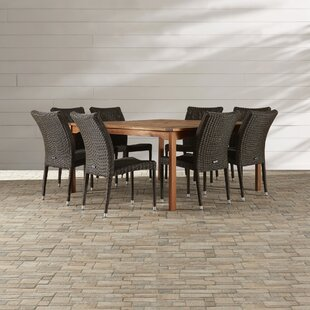 Bayou Breeze Ariyah 9 Piece Indoor/Outdoor Dining Set