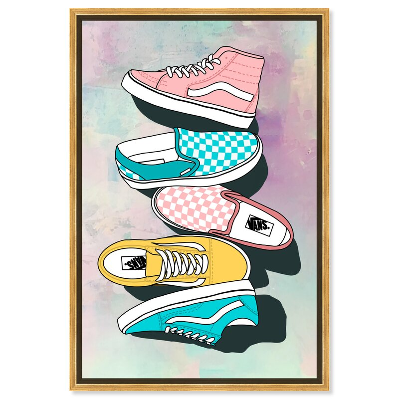 Pastel Tie Dye Sneakers by Oliver Gal - Graphic Art on Canvas