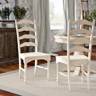 Sebrina Solid Wood Dining Chair (Set of 2) Lark Manor