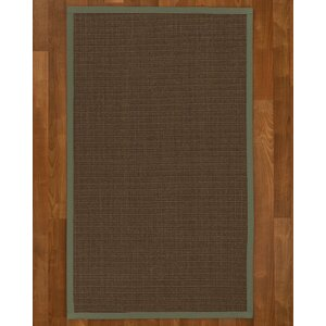 Beck Solid Hand Woven Brown Area Rug