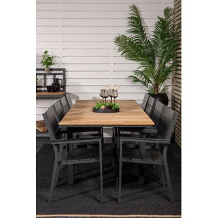 Anoki 8 Seater Dining Set By Ebern Designs