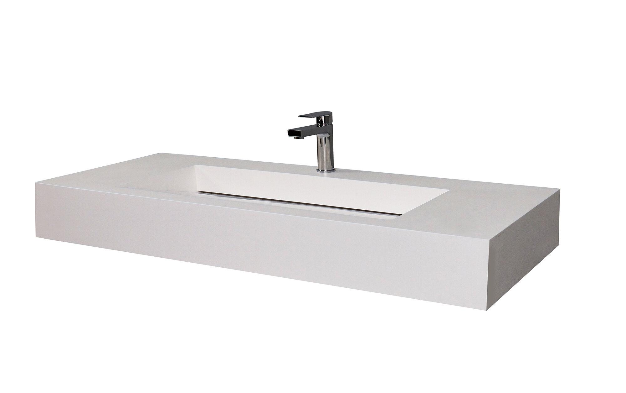 Castellousa Audrey 48 Single Bathroom Vanity Top With Sink Reviews Wayfair