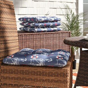 Indoor/Outdoor Dining Chair Cushion (Set Of 4) by Longshore Tides