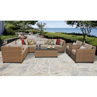 Medina 10 Piece Outdoor Sectional Seating Group with Cushions