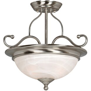 Saturn 2-Light Semi Flush Mount by Hardware House