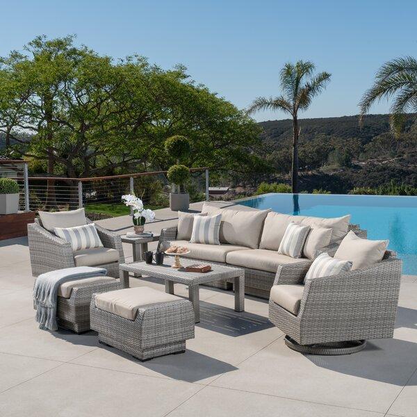 Wade Logan Johana 8 Piece Rattan Sofa Seating Group With Cushions Reviews Wayfair