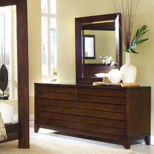 Home Image Island 6 Drawer Dresser with Mirror