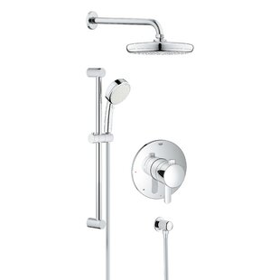 Best Reviews Cosmopolitan Pressure Balanced Dual Function Adjustable Complete Shower System with SpeedClean Technology ByGrohe