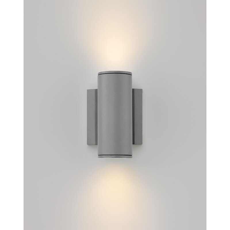 Orren Ellis Arie Led Outdoor Armed Sconce Wayfair