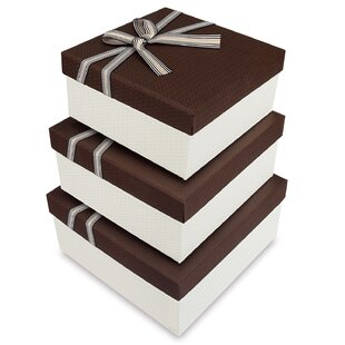 Read Reviews Square 3 Piece Gift Box Set ByThe Holiday Aisle