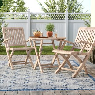 Darby Home Co Balmer Teak 3 Piece Bistro Set