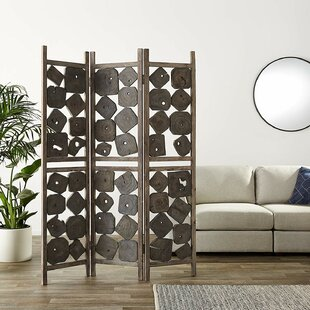 Reeser 3 Panel Room Divider by Bloomsbury Market