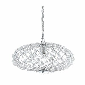 Silver Web Horizons 1-Light Globe Pendant