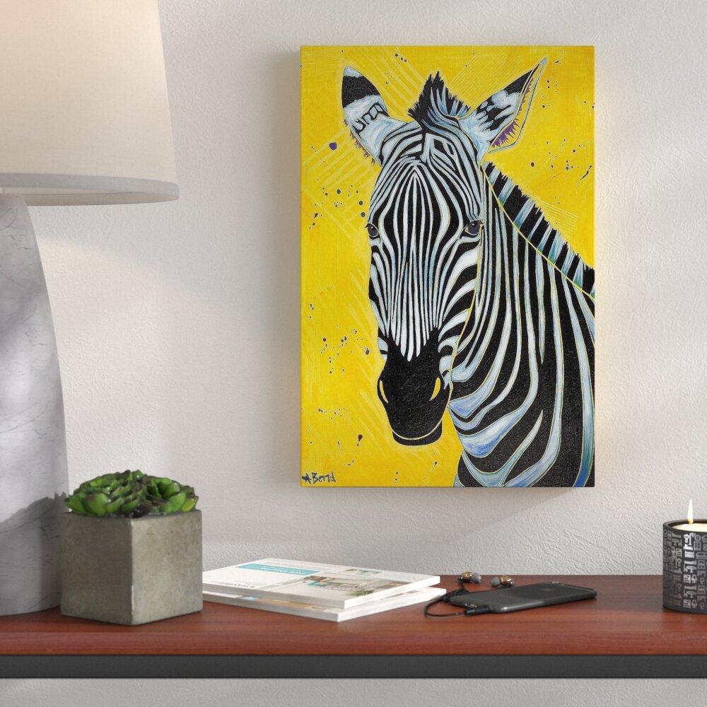 Wrought Studio \'Zebra\' Print on Canvas   Wayfair