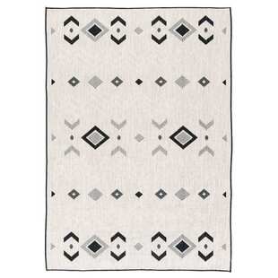 Read Reviews Tseng Reversible Gray/Black Indoor/Outdoor Area Rug ByMillwood Pines