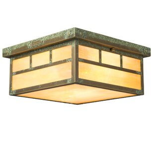 Millwood Pines Emond 1-Light Flush Mount