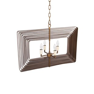 Baldridge Modern 4-Light Geometric Chandelier by George Oliver