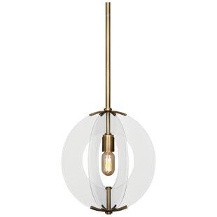 Latitude 1-Light Globe Pendant by Robert Abbey