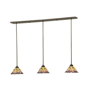 Meyda Tiffany Daffodil Bell 3-Light Kitchen Island Pendant