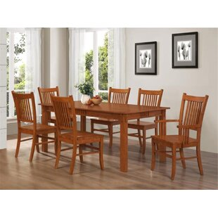 Temperance 7 Piece Dining Set Millwood Pines