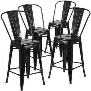 Inexpensive 24'' Bar Stool (Set of 4) by Flash Furniture Reviews (2019) & Buyer's Guide