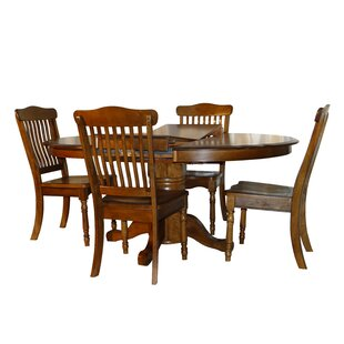 Rivoli Vintage Oak 5 Piece Extendable Dining Set DarHome Co