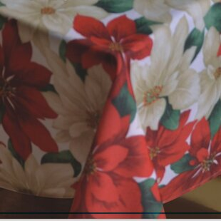 Provencher Poinsettia Tablecloth