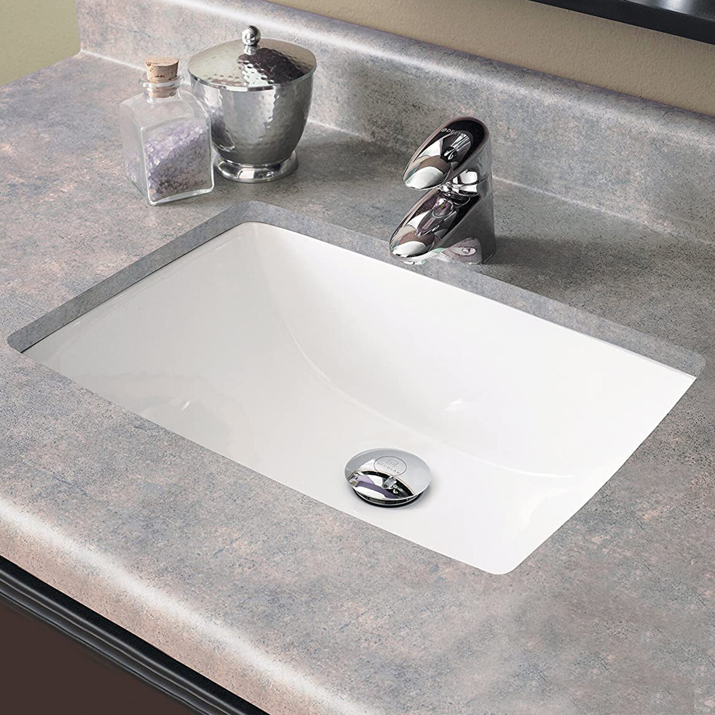 Vanityfair White Ceramic Rectangular Undermount Bathroom Sink With Overflow Wayfair