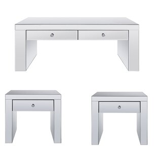 Buskirk 3 Piece Coffee Table Set By Everly Quinn