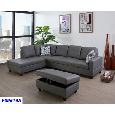Groovy Andover Mills Russ Sectional With Ottoman Orientation Left Alphanode Cool Chair Designs And Ideas Alphanodeonline