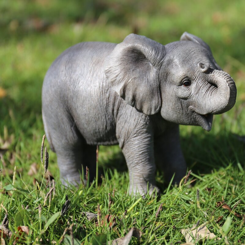 Hi-Line Gift Ltd. Baby Elephant Statue & Reviews | Wayfair