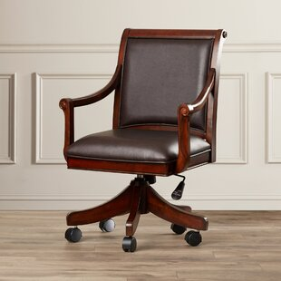 Shiloh Leather Arm Chair by Darby Home Co