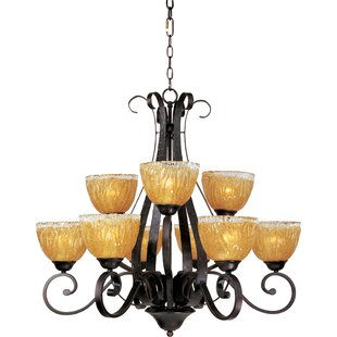 Fleur De Lis Living Willett 9-Light Shaded Chandelier