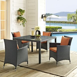 Brayden Studio Tripp 5 Piece Dining Set