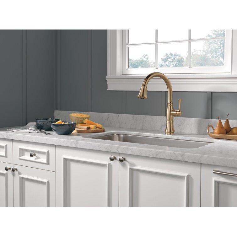Delta Pull Down Single Handle Kitchen Faucet Reviews Wayfair