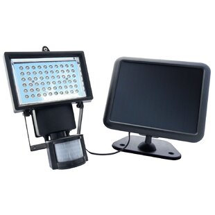 LED Solar Powered Battery Operated Outdoor Security Flood Light with Motion Sensor by Nature Power