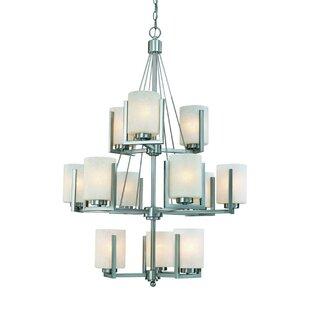 Dolan Designs Uptown 12-Light Shaded Chandelier