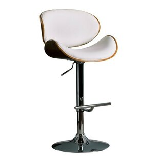 Standridge Modern Adjustable Height Swivel Bar Stool by Orren Ellis