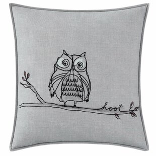 Boceto Hoot Cotton Throw Pillow