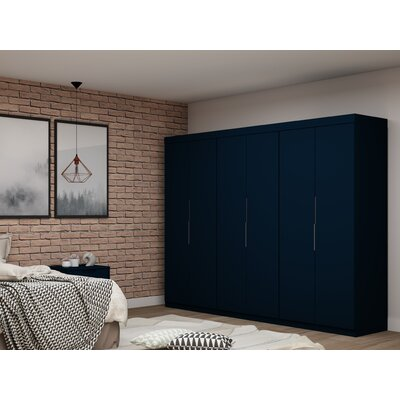 Latitude Run Delhi 3 Sectional Wardrobe Armoire