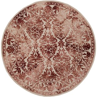 Find the perfect Henricks Hand Tufted Burgundy/Off-White Area Rug ByAlcott Hill