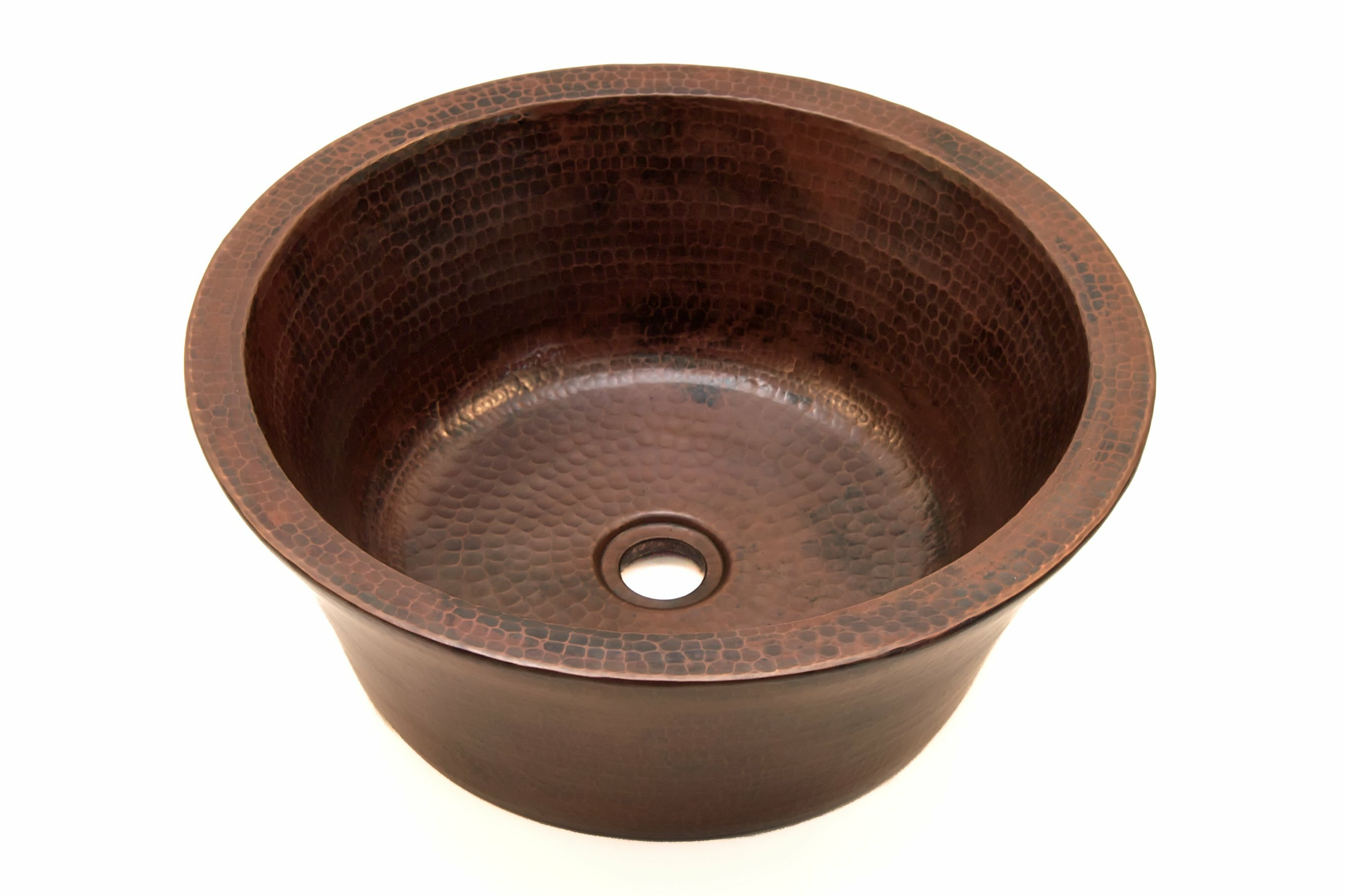 Artesano Design Copper Handmade Circular Vessel Bathroom Sink Wayfair