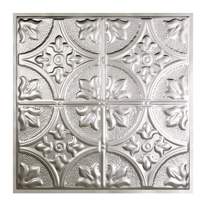 Greatlakestin Jamestown 2 Ft X 2 Ft Lay In Ceiling Tile In Clear