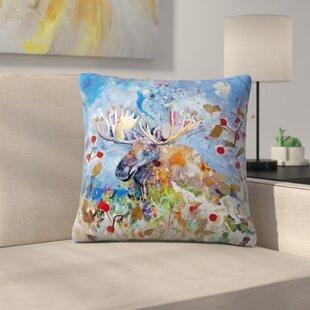 Sunshine Taylor Moose Indoor/Outdoor Throw Pillow
