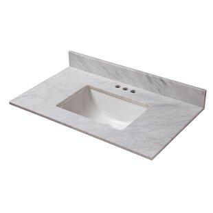 Marble 37 Single Bathroom Vanity Top by Cahaba